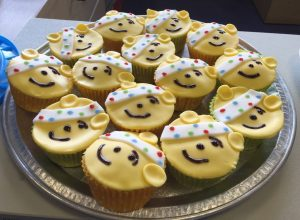 A selection of Pudsey themed cakes that were made by the Pakawaste team to raise money for Children in Need.