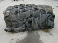 Bale consisting of 150 tyres