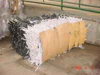 Bale of coat hangers from MX600 Baler